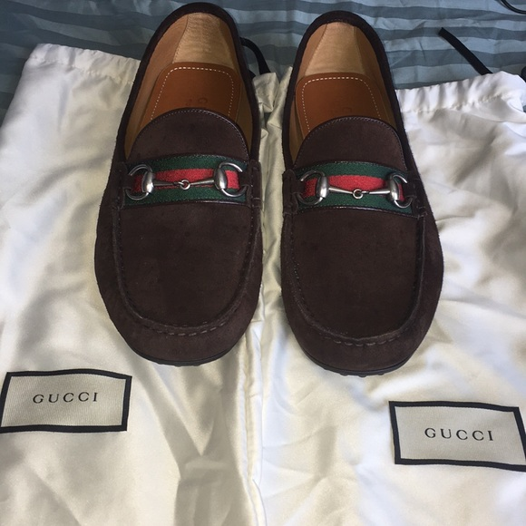 7e39b08a9 Gucci Shoes | Authentic Brown Suede Kanye Loafers | Poshmark